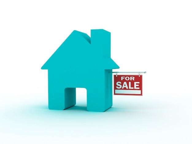 Maison à vendre, rendu 3d