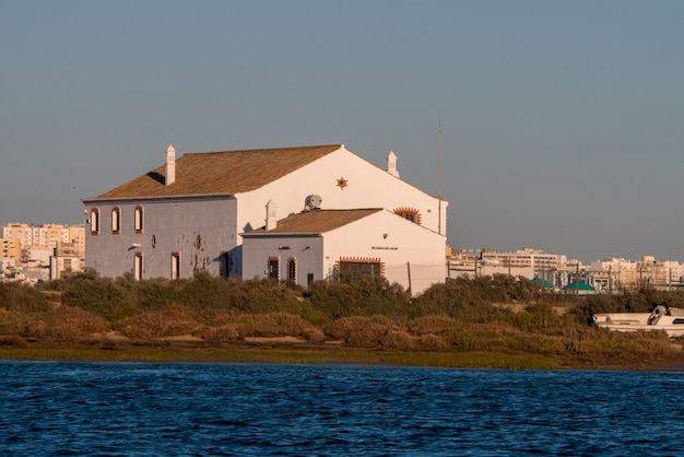 Maisons autour de la plage de faro