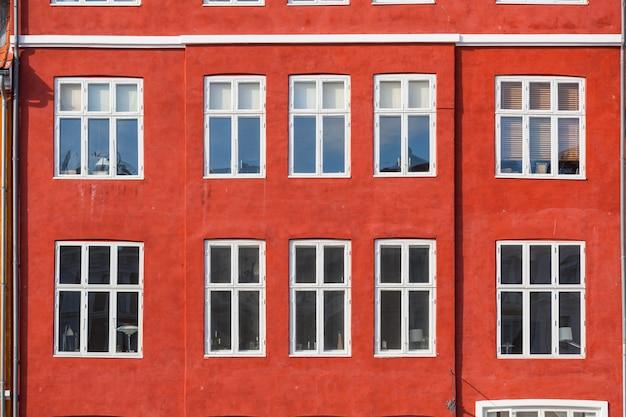 Maisons colorées typiques de la vieille ville de copenhague