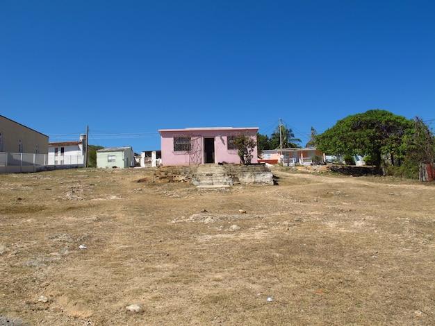 Maisons dans le village près de cienfuegos, cuba