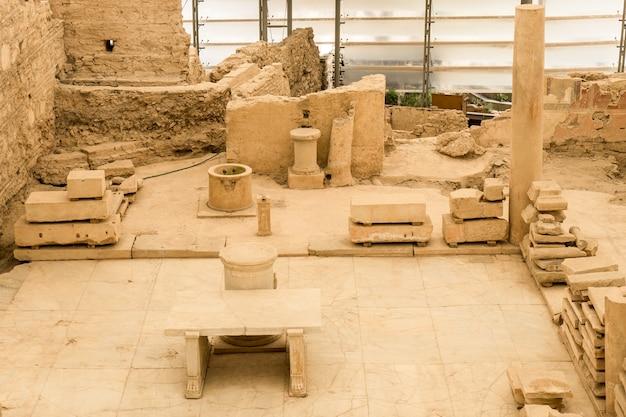 Maisons en terrasse dans la ville antique d'ephèse à izmir, turquie