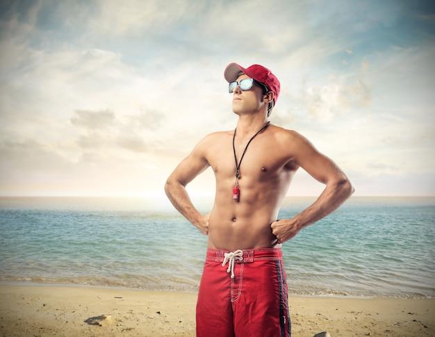 Maître nageur, plage