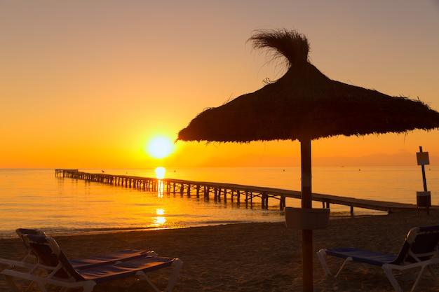Majorque muro sunrise beach baie d'alcudia à majorque