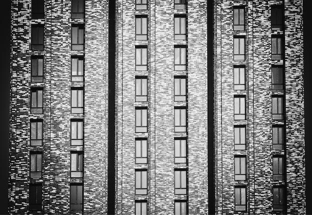 Mal avant noir et blanc de fond de gratte-ciel