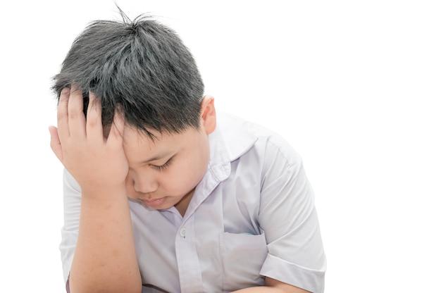 Mal de tête d'enfant