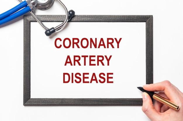Maladie de l'artère coronaire. santé et soins cardiaques.