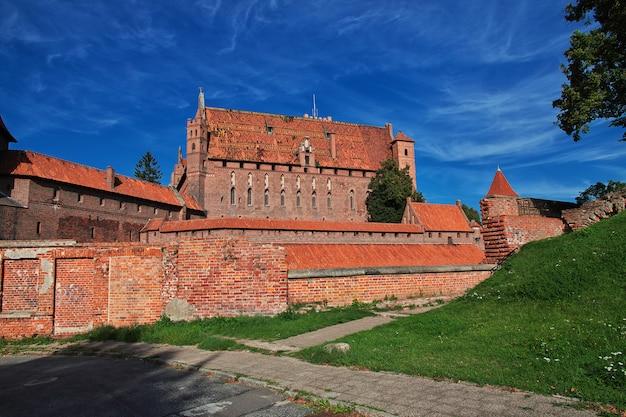 Malbork est le château des croisés en pologne