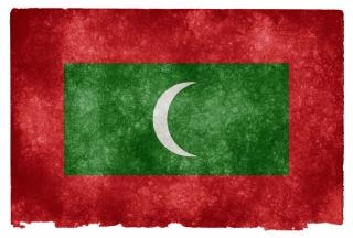 Maldives flag grunge sale