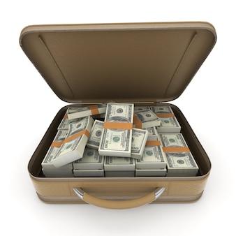 Une mallette pleine de billets de cent dollars