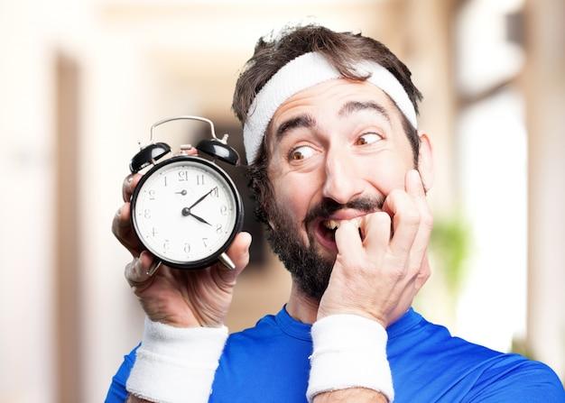Man.funny sport crazy expression