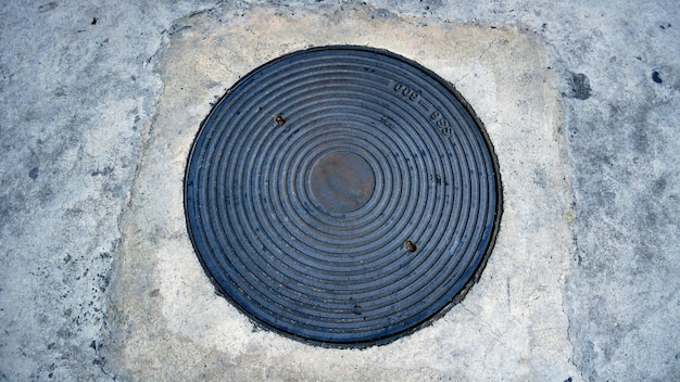 Man hole for water service service