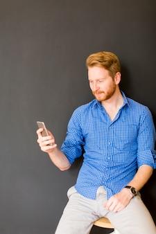 Man avec smartphone