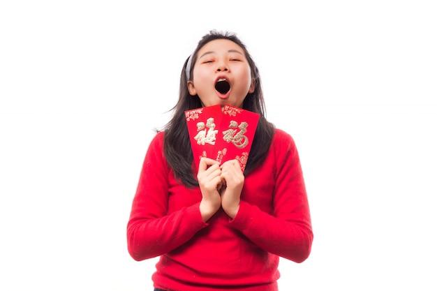 Mandarin richesse culture sourire femme
