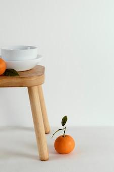 Mandarine concept abstrait minimal