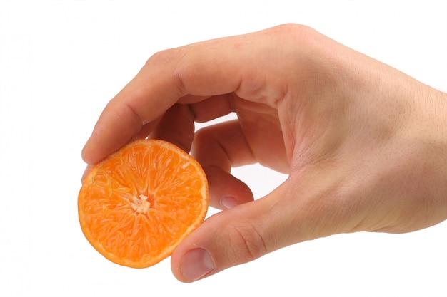 Mandarine une main