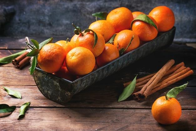 Mandarines à la cannelle
