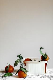 Mandarines nature morte