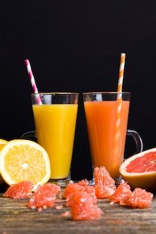 Mandarines et pamplemousses