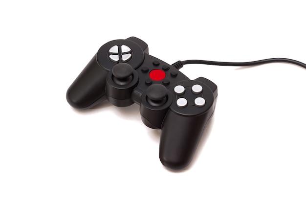 La manette de jeu de la console de jeu est isolée sur blanc