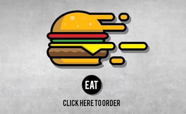 Manger, manger, commander, nourriture, concept