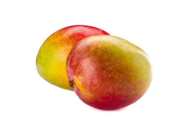 Mangues tropicales fraîches isolées sur fond blanc