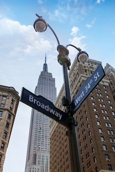 Manhattan new york à broadway 6ème av