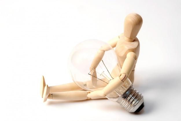 Mannequin avec ampoule