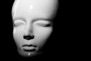 Mannequin close-up, blanc