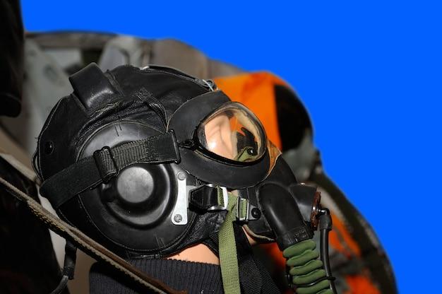 Mannequin dans une combinaison de pilote militaire