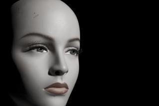 Mannequin, noir, figure