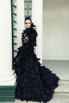 Mannequin en robe noire