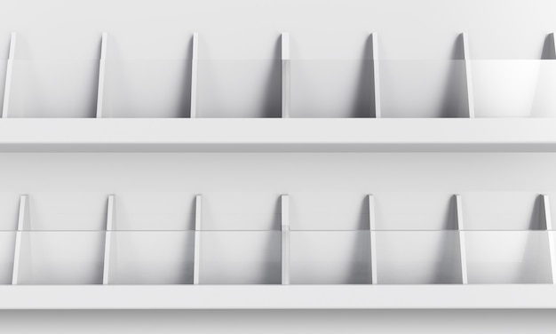 Maquette d'affichage d'étagère de produit. rendu 3d