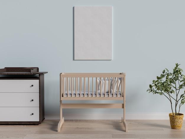 Maquette affiche dans la chambre de bébé.