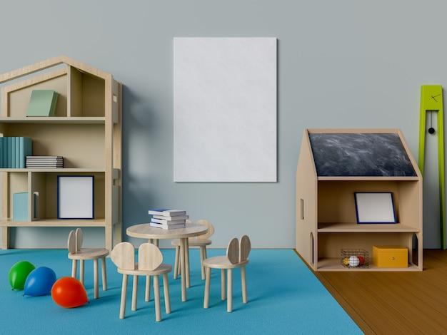 Maquette affiche dans la chambre d'enfant
