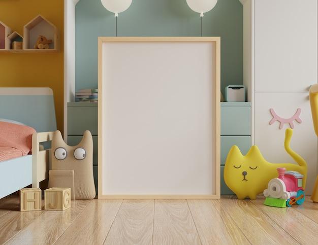 Maquette affiche dans la chambre des enfants