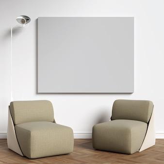 Maquette d'affiches dans le salon