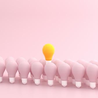Maquette d'ampoule flottante au-dessus des autres.