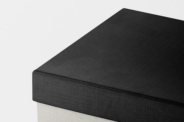 Maquette de boîte noire psd