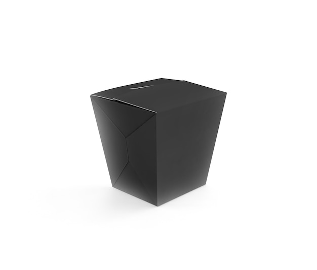 Maquette de boîte de wok noire