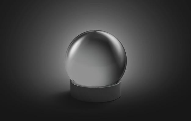 Maquette de boule magique en cristal noir vierge