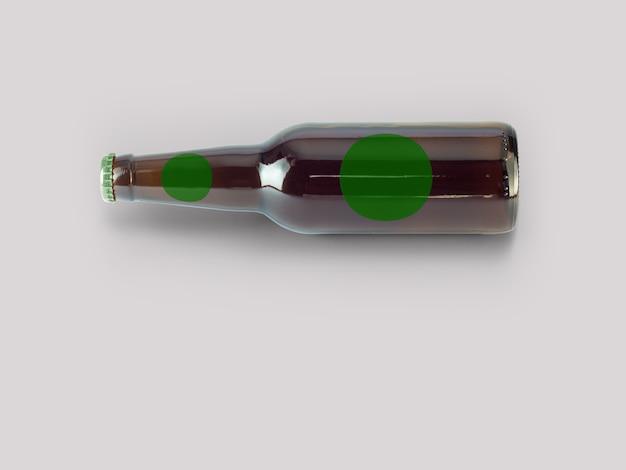 Maquette de bouteille de bière isolée - étiquette vierge, concept oktoberfest.