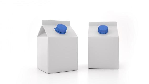 Maquette de bouteille de lait. étiquette vierge