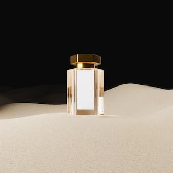 Maquette de bouteille en verre de parfum