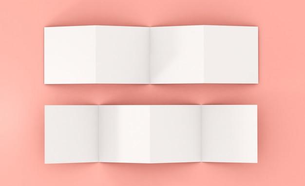 Maquette de brochure de huit pages