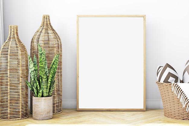 Maquette de cadre et cadre en bois
