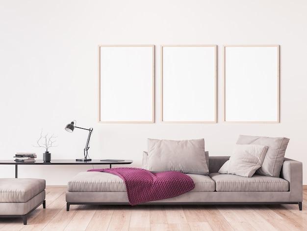 Maquette de cadre dans un design de salon moderne