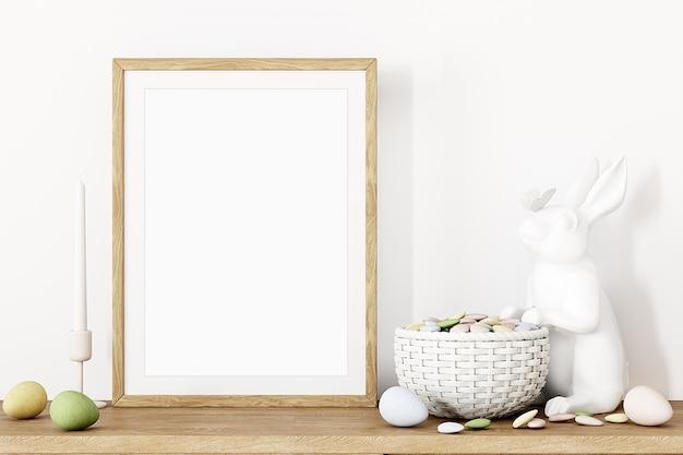 Maquette de cadre et décor de pâques