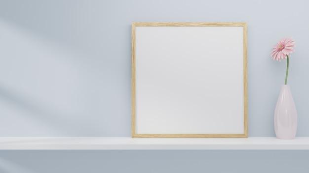 Maquette de cadre sur le mur