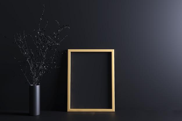 Maquette de cadre d'or