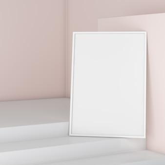 Maquette de cadre photo vide